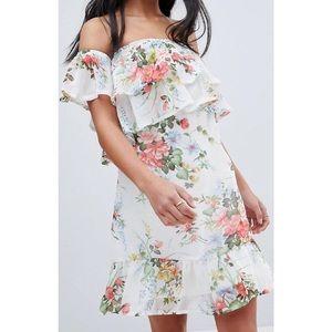 HOST PICK x2 💕Off shoulder floral tiered dress
